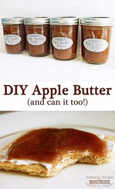 Have you ever wanted to make your own Apple Butter? This Homemade Apple Butter Recipe is made in the slow cooker with a special, no peel-short cut method. You will love how easy it is to make and can your own apple butter! Homemade Apple Butter, Crockpot Apple Butter, Canned Apple Butter, Apple Butter Jelly Recipe, Homemade Recipe, Do It Yourself Food, Jelly Recipes, Yummy Recipes, Desert Recipes