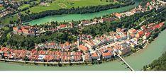 Burghausen - malerische Altstadt und die weltlängste Burg