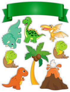 Dinosaur Cake Toppers, Dino Cake, Dinosaur Birthday Cakes, Dinosaur Party, Boy Birthday, Die Dinos Baby, Baby Dinosaurs, Birthday Party Decorations, Party Themes
