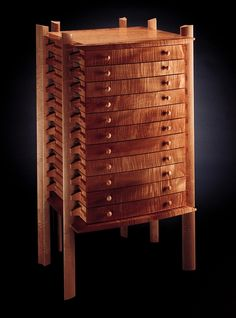 Curly Maple Print Chest