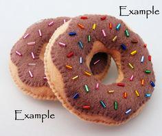 Yummy Chocolate Diet Donut Felt Magnet by DanielleLondon on Etsy