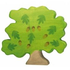 NEW WOODEN HOLZTIGER OAK TREE Wood Toy Animal HT80225