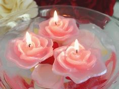 Floating Candles for Sale Cute Candles, Candles For Sale, Pink Candles, Floating Candles, Rose Candle, Pink Power, Woodland Christmas, Personalized Candles, Light My Fire