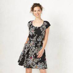 Women's LC Lauren Conrad Pleated Fit & Flare Dress