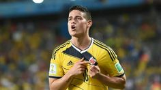 James Rodriguez: Best Player in World Cup 2014 Group Stage James Rodriguez Colombia, Real Madrid, Shinji Okazaki, Resultado Loteria, World Cup Shirts, Fifa 2014 World Cup, World Cup Groups, Word Cup, Soccer World