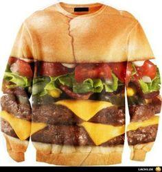 sweater burger mcdonalds la delicatesse