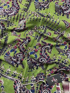 Printed Kalamkari cotton saree with printed blouse PC with rich pallu Kalamkari Saree, Cotton Saree, Printed Blouse, Sarees, City Photo, Boutique, Prints, Photography, Collection