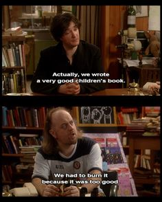 They totally wrote an amazing children's book! British Tv Comedies, British Comedy, Comedy Tv, Comedy Show, Best Children Books, Childrens Books, Dylan Moran, British Humor, Television Program