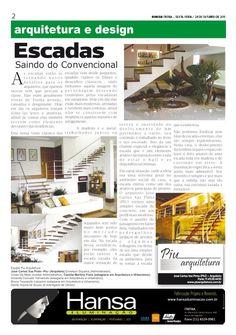9° Publicação Jornal bom dia – Matéria - Escadas  28 -10-11