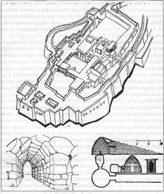 Тиринф. План укрепленного акрополя