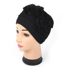 Learned New Elegant Double 3d Flower Muslim Islamic Hijab Inner Caps Beanie Cap Sleep Turban Rhinestone Hat Caps Bonnet At Any Cost Traditional & Cultural Wear