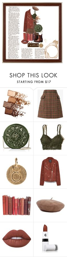 """Taurus//zodiac"" by purpleglitter209 ❤ liked on Polyvore featuring Maybelline, Prada, Hollister Co., Pernille Corydon, Veda, Brixton, Lime Crime, Lipstick Queen and Frye"