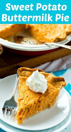 Sweet Potato Buttermilk Pie has a light texture, a little tang, and not too much sweetness. This southern pie is flavored with nutmeg and cinnamon. Pie Recipes, Whole Food Recipes, Dessert Recipes, Desserts, Recipies, Cake Ingredients, Homemade Taco Seasoning, Homemade Tacos, Kitchens