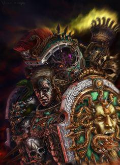 alpha_legion chaos colored inkary(arkeeva) librarian shield space_marines