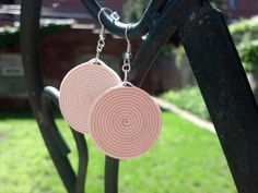 Paper Quilled Earrings Round Swirl - Light Pink - paper quilling earrings, paper quilling jewelry, paper quilled jewelry, handmade earrings
