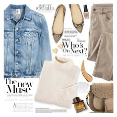 """""""Denim Trend: Jean Jackets"""" by martinabb ❤ liked on Polyvore featuring Blair, Wrap, J.Crew, Chloé, Burberry, OPI and Lipsy"""