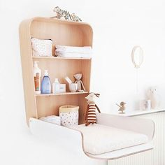 Pin for Later: 12 Space-Saving Nursery Hacks to Prep Baby's Room Make your changing table compact. Baby Changing Station, Baby Changing Tables, Baby Nursery Diy, Baby Bedroom, Babies Nursery, Nursery Ideas, Space Saving Kitchen, Minimalist Nursery, Babies Rooms