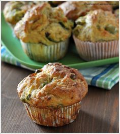 The Green Muffins Vegetable Muffins, Vegetable Dishes, Real Food Recipes, Baking Recipes, Yummy Food, Simply Recipes, Food Humor, Finger Foods, Love Food