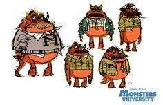 Character designs for Monster University