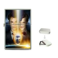 """New Order Doctor Who Dr ? Flip Top Lighter +Free Gift Box + Free Ship by Siriporn Factory. $18.99. This high quality metal chrome flip top lighter is a wick, flint and fluid fuel petrol lighter. (Wick and flint is included, the fluid fuel petrol is not included, you can easily buy from your local stores.) The images have been protected with crystal clear enamel coating, for long time duration. It measures 2.25""""(H) x 1.5""""(W) x 0.5""""(D), and comes with a gift tin box. T..."""