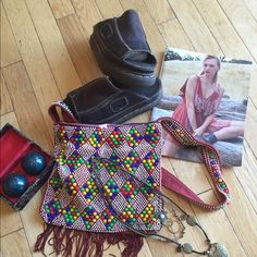 ⚡️⚡️Flash Sale⚡️⚡️Gorgeous Vintage Beaded Boho Bag This vintage crossbody is fabulous. In perfect condition. I've had it so long & was doing spring cleaning & found this awesome gem!! Perfectly on trend with the fringe & beads. No beads missing. Perfect for those summer concerts or for right now. I love it but unfortunately need the money more. Lettin go for way less than worth, Don't forget to bundle for an awesome discount!!! This is a one of a kind hand beaded purse purchased from a…