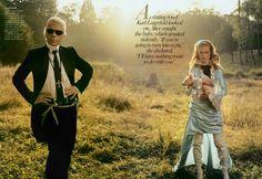 Alice In Wonderland; December 2004; Photographer: Annie Leibovitz; Fashion Editor: Grace Coddington; Model: Natalia Vodianova... Karl