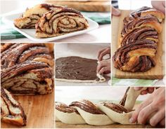 Christmas Bread Recipes - Our Favorites Nutella Star Bread, Braided Nutella Bread, Braided Bread, Chocolate Banana Bread, Best Bread Recipe, Bread Recipes, Cooking Recipes, Christmas Bread, Sweet Dough
