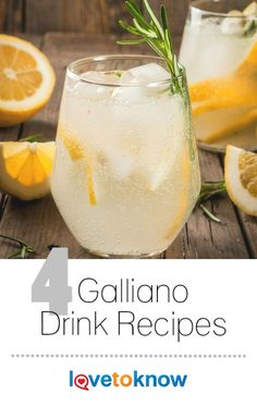 Galliano is an herbal liqueur with notes of licorice and vanilla. Underneath these top notes, this sweet liquor has flavors of woodsy herbs like thyme and citrus. Alcoholic Coffee Drinks, Liquor Drinks, Vodka Cocktails, Cocktail Drinks, Cocktail Recipes, Liquor Bar, Bourbon Drinks, Beverage, Galliano Drinks