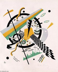 Kandinsky >> Kleine Welten IV from the set Kleine Welten | (Oil, artwork, reproduction, copy, painting).