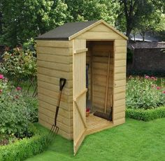 Backyard With Border And Tool Shed : Build Your Own Tool Shed