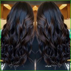 Brown Hair With Blonde Highlights, Brown Hair Balayage, Hair Color Balayage, Hair Highlights, Hair Color For Black Hair, Brown Hair Colors, Dark Hair Style, Black Colors, Natural Hair Styles