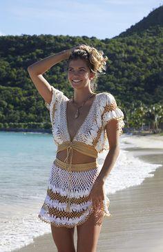 Hand Crochet, Crochet Lace, Crochet Beach Dress, Crochet Summer Dresses, Bare Foot Sandals, Crochet Fashion, Resort Wear, Outfit, Beachwear