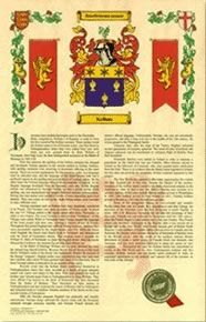 Armorial History with Coat of Arms, heraldry $18.95