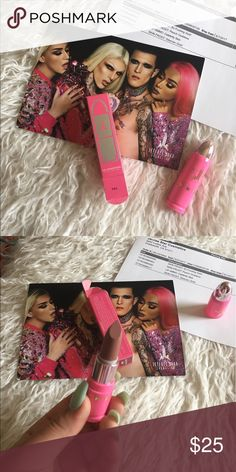 Jeffree star cosmetics lip ammo celebrity skin Brand new in box authentic🔥 lip ammo in celebrity skin ‼️does not come with receipt or card‼️NO TRADES✨✨✨✨✨✨✨✨✨✨✨✨✨✨✨✨✨Our stick lipstick formula has one swipe coverage and packs a punch! Satin finish. Extreme pigment. Smells like creamsicle ice cream. Can be used with any lip liner or worn by itself. This product is 100% vegan & cruelty-free! (tips before use: exfoliate with lip scrub then apply to bare lips!) Kylie Cosmetics Makeup Lipstick
