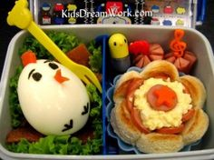 Your little chick will love opening their lunchbox to another little chick!