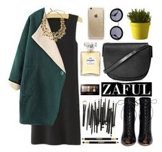 """Zaful"" by oshint ❤ liked on Polyvore featuring Gianvito Rossi, Topshop, Maybelline, Chanel, Muuto, Miu Miu, Rifle Paper Co, Sisley Paris, Oscar de la Renta and zaful"