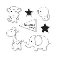 Sizzix Framelits Die Set 7PK w/Stamps - Baby Boy $29.99   A bundle of cuteness!  #SizzixSummerAdventure