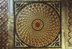 Mosaic stone floor in San Marco Basilica, Venice, Italy