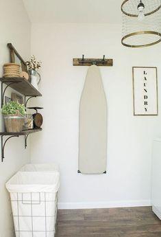 Rustic Farmhouse Laundry Room Decor Ideas (47)