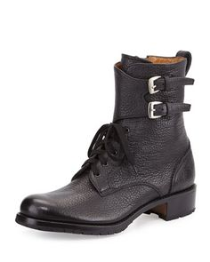 Lace-Up Leather Combat Boot by Gravati at Bergdorf Goodman.