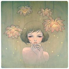 Art Spotting: The Ethereal art of Audrey Kawasaki Audrey Kawasaki, Art And Illustration, Illustrations, Inspiration Art, Pop Surrealism, Oeuvre D'art, Great Artists, Zentangle, Art Nouveau