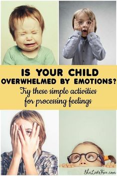 Is your child overwhelmed by emotions? Try these simple activities for processing feelings! #insideoutemotions #ad