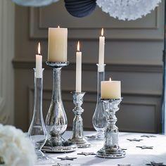 Bell Pillar Candle Holder | The White Company #whitechristmaswishlist