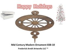 Mid Century Modern Ornament 83810 by FredArndtArtworks on Etsy, $14.95