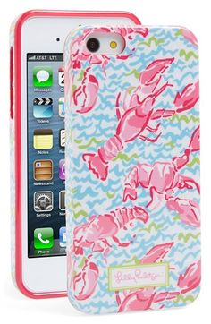 """Lilly Pulitzer® phone cases are so colorful and cute- especially this one in """"Lobstah Roll."""""""