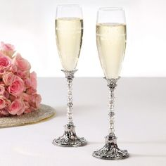 Beaded Toasting Flutes | Champagne Toasting Flutes