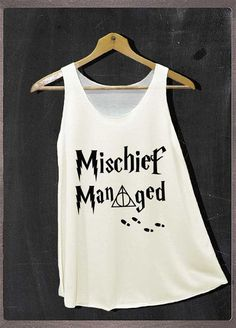 Mischief Managed Marauders Map Harry Potter Shirt Tank Top Women Size S and M