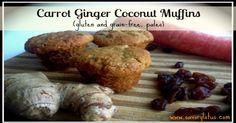 Carrot Ginger Coconut Muffins (Gluten/Grain-free, Paleo) -