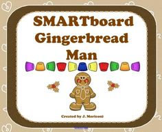 Gingerbread Man/Christmas-Themed Activities for the SMARTboard product from Creative-Lesson-Cafe on TeachersNotebook.com