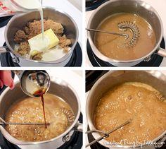 homemade caramel sauce and caramel vanilla creamer.